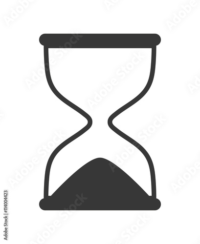 quothourglass icon clock design vector graphicquot stock image
