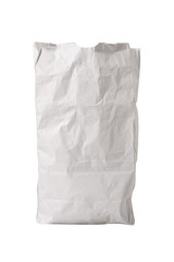 White Paper Bag Upright