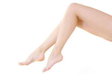 woman legs perfect shape skin care