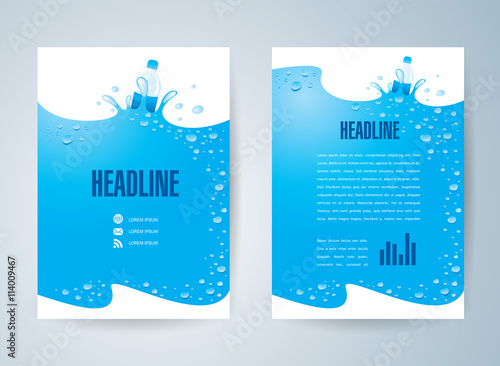 Bottle Of Water Brochure Template Design Id 0000006825 Flyer
