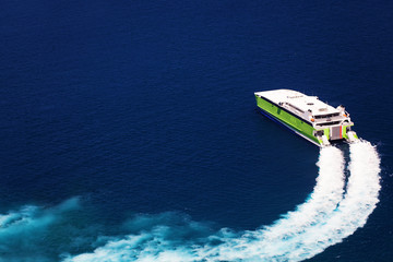 Cruise Ferry Boat in the Sea