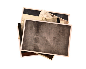 Vintage photos isolated on white