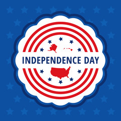 Independence day color badge