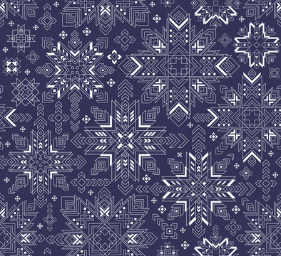 Seamless pattern with Latvian symbol auseklis made from polygon, vector image.