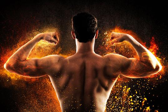 Burning muscular back
