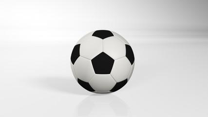 Soccer ball, football, sports equipment isolated on white background, 3D illustration