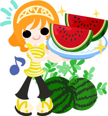 Summer memories and delicious watermelon