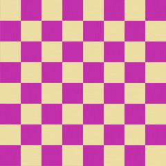 チェック柄10(シームレス)-パープル / パープルとベージュ系のツートンカラーのチェック柄に、木目を意識した細かい模様を加え、ナチュラル感を演出しています。