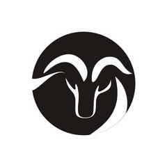 goat icon vector logo design
