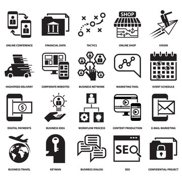 modern technology business  concept  icon and symbol