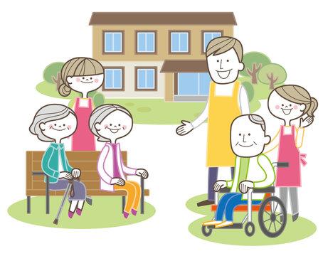 介護士 高齢者 老人ホーム