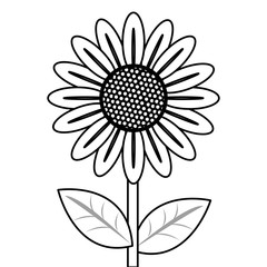 black line flower icon