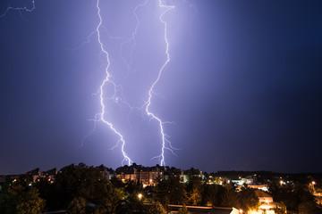 Lightning strike/Lightning in the city