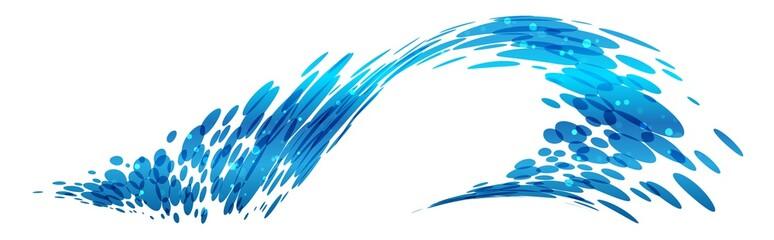 Wave design, stylized composition