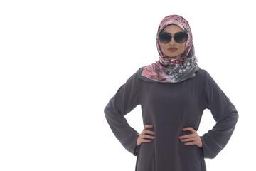 Muslim Woman Wearing Hijab And Sunglasses