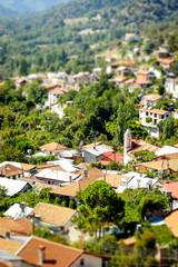 Foini, a traditional mountain Cyprus village. Limassol District