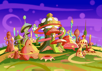 Mystery Wonderland. Fantastic Alien City.