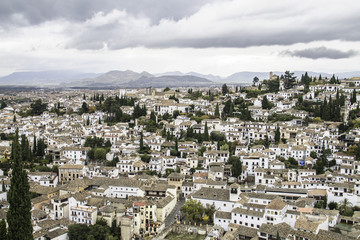 Alpujarras. white village in  Granada, Andalucia.Spain