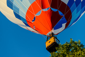 Acrylic Prints Sky sports Hot air balloon take off, focus on the dome