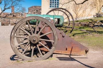 Old cannon. Suomenlinna island, Finland
