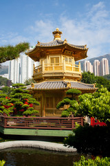 goldener Pavilion - Park in Hong Kong