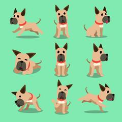 Obraz Cartoon character great dane dog poses - fototapety do salonu