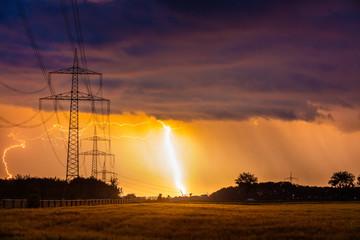 Blitzeinschlag beim Gewitter