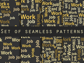 Words seamless pattern, word collage, words design. Seamless pattern with words. Association with the work search.