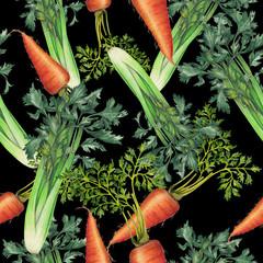 Seamless pattern of natural food