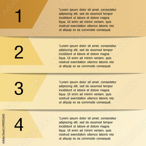 One two three four steps progress bar, infographic elements