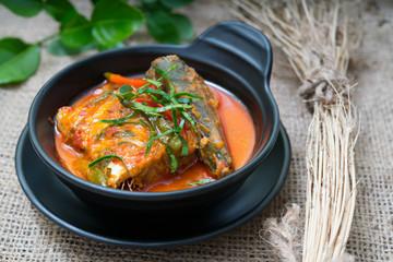 chuchi mackerel Thai food
