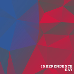 Independence Day low poly background. Vector illustration.