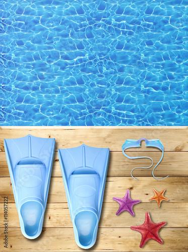 Estate piscina pinne occhialini stelle marine for Pinne x piscina