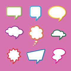 set of nine dialog boxes