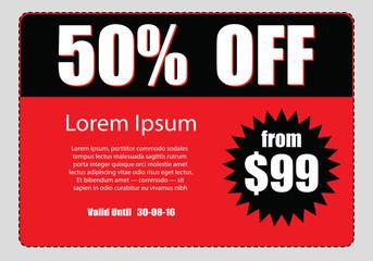business discount coupon