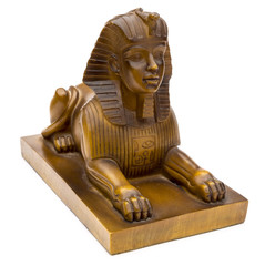 Sphinx figure on a white background