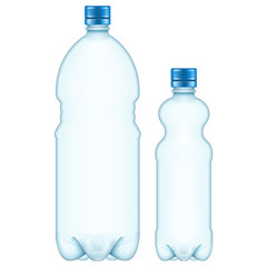 Plastic bottles. EPS 10