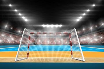Composite image of handball field