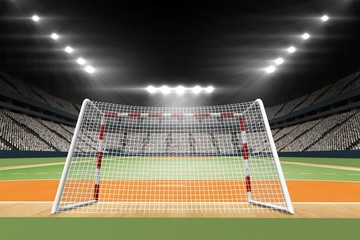 Composite image of handball field