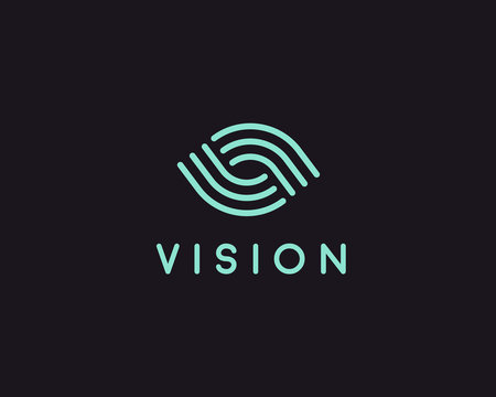 Eye logo symbol design. Creative camera media icon. Global vision logotype. Photo video control sign.