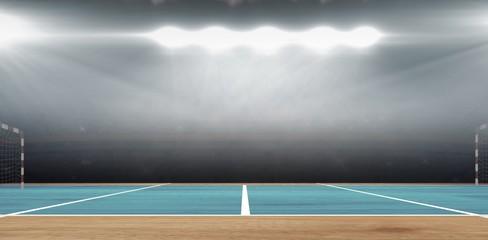 Composite image of a handball field
