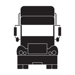 Stylized icon of the truck front