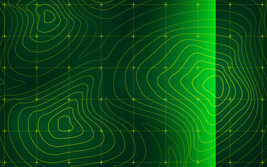 Mountain landscape radar screen