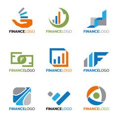 Finance logo for business vector set design