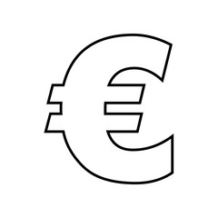 euro symbol isolated icon design