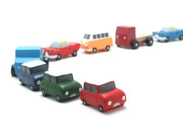 車 ミニカー 渋滞