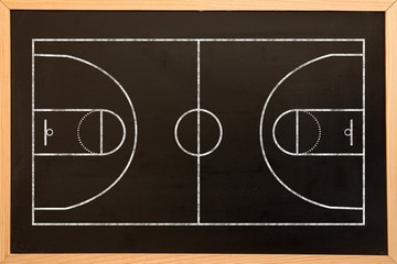 Digital image of basketball field