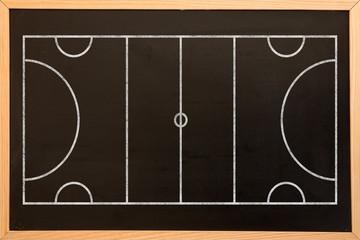 Digital image of sport field plan