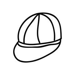 cap  drawing isolated icon design