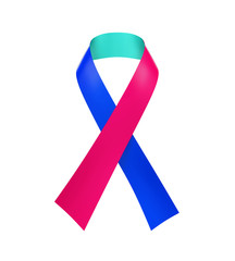 Thyroid Cancer Awareness Ribbon
